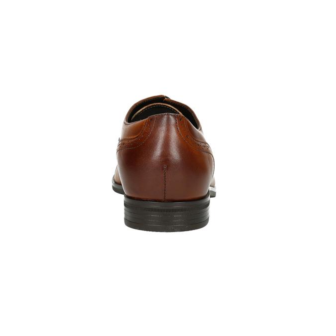 Brązowe skórzane półbuty zefektem ombré conhpol, brązowy, 826-3923 - 16