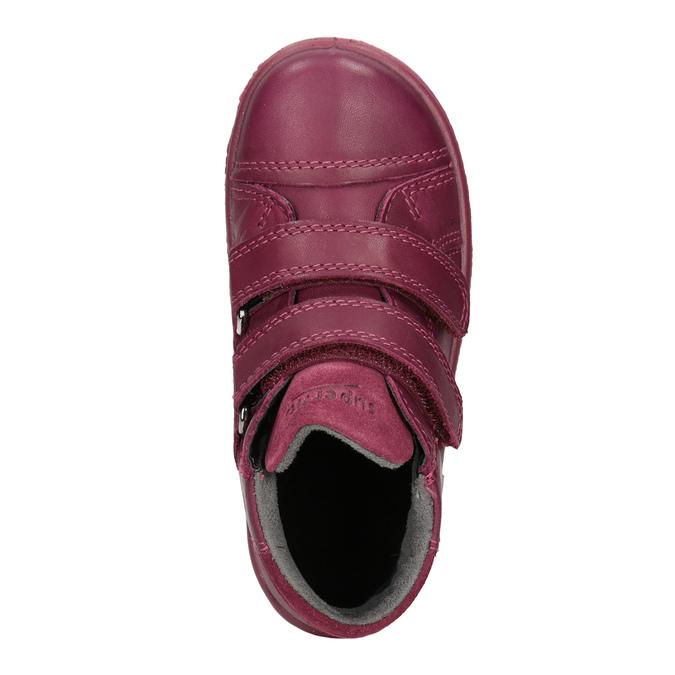 Skórzane botki dziecięce, czerwony, 124-5037 - 15