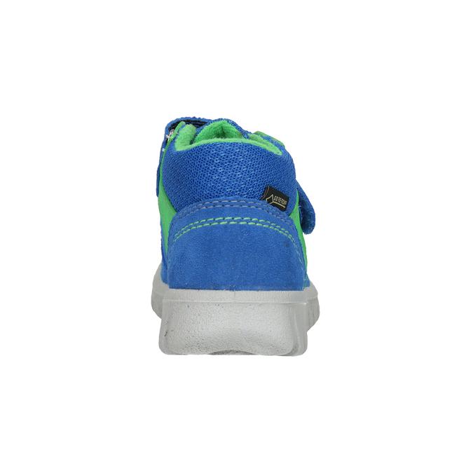 Skórzane obuwie dziecięce na rzepy, niebieski, 113-9036 - 16
