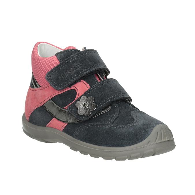 Skórzane obuwie dziewczęce za kostkę, szary, 123-2035 - 13