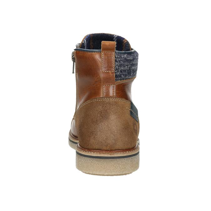 Buty męskie za kostkę bata, brązowy, 896-3669 - 16