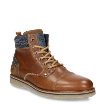 Buty męskie za kostkę bata, brązowy, 896-3669 - 13