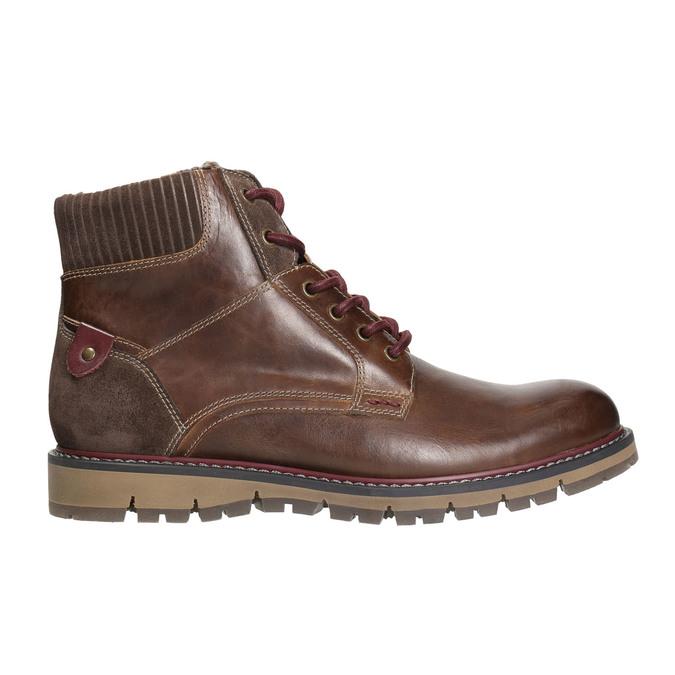 Zimowe obuwie męskie za kostkę bata, brązowy, 896-4657 - 15