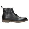Skórzane ocieplane buty za kostkę bata, czarny, 896-6662 - 15