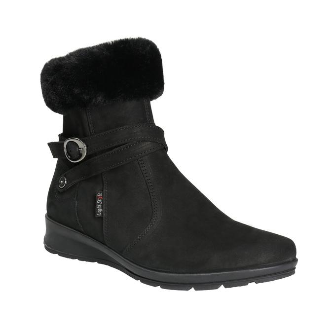 Buty damskie zimowe zfuterkiem, czarny, 696-6623 - 13