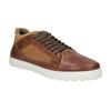 Skórzane trampki męskie bata, brązowy, 846-3643 - 13