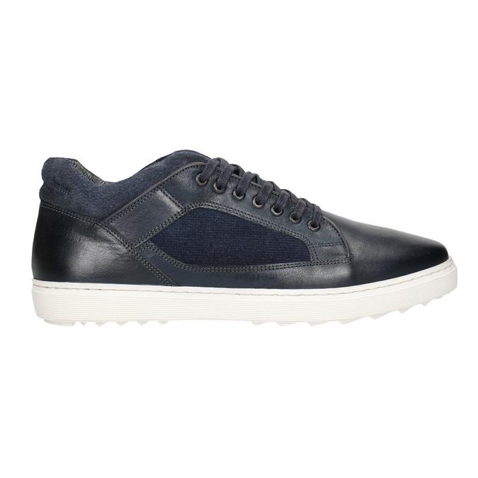 Skórzane trampki męskie bata, 846-6643 - 26