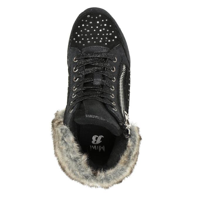 Zimowe obuwie dziecięce zkryształkami mini-b, czarny, 329-6287 - 15