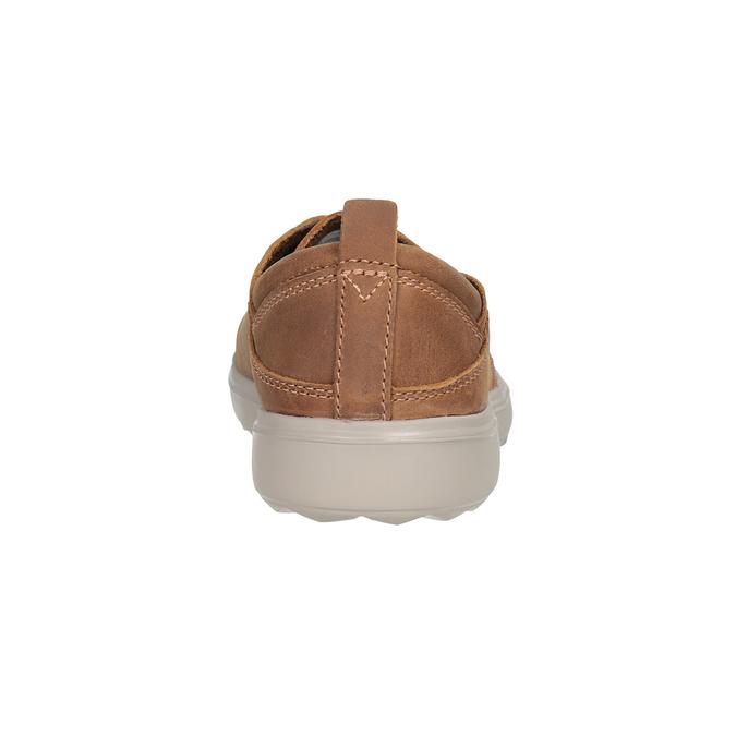 Skórzane trampki damskie merrell, brązowy, 506-4702 - 16