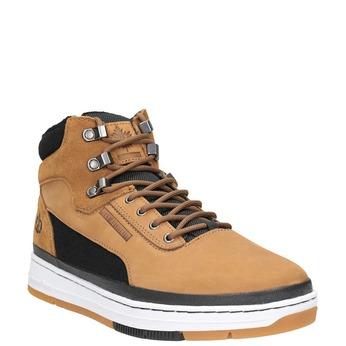 Skórzane buty męskie za kostkę k1x, brązowy, 806-4552 - 13