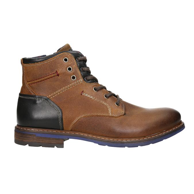 Skórzane buty za kostkę bata, brązowy, 896-3680 - 15