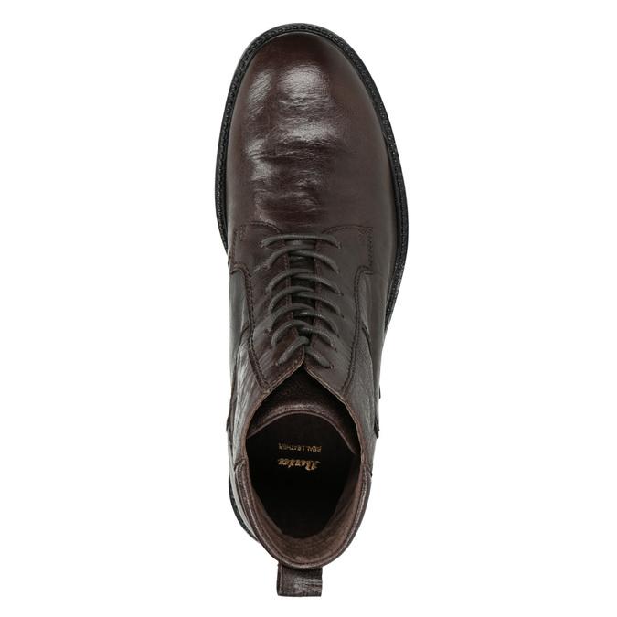 Skórzane obuwie za kostkę bata, brązowy, 894-4694 - 15