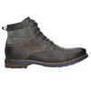 Skórzane buty zniebieskimi detalami bata, szary, 896-2679 - 15