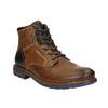Skórzane buty za kostkę bata, brązowy, 896-3680 - 13