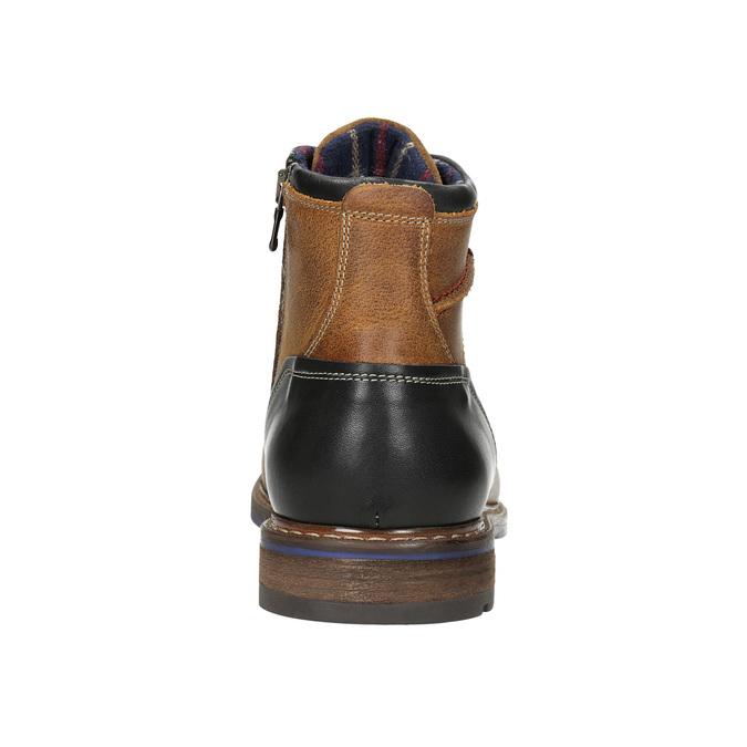 Skórzane buty za kostkę bata, brązowy, 896-3680 - 17