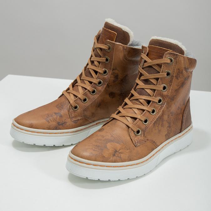 Zimowe buty damskie ze skóry bata, brązowy, 596-4684 - 18