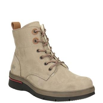 Zimowe skórzane buty damskie za kostkę weinbrenner, brązowy, 596-3666 - 13