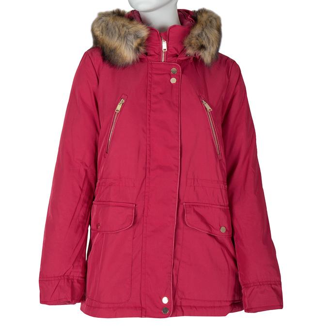 Czerwona kurtka damska zkapturem bata, czerwony, 979-5177 - 13
