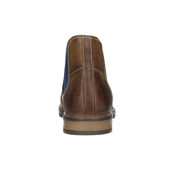 Skórzane obuwie typu Chelsea bugatti, brązowy, 896-4035 - 16