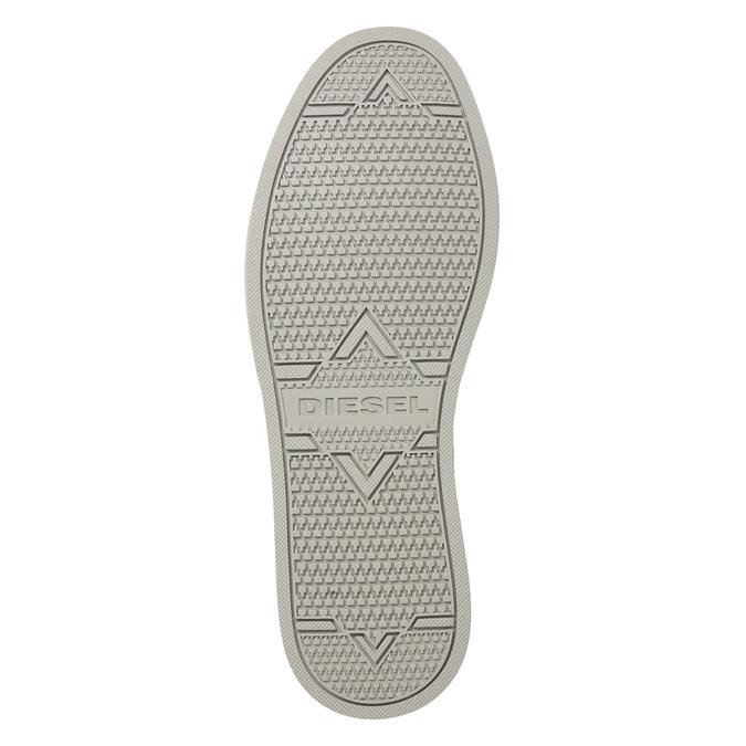 Skórzane buty męskie za kostkę diesel, szary, 803-2629 - 17