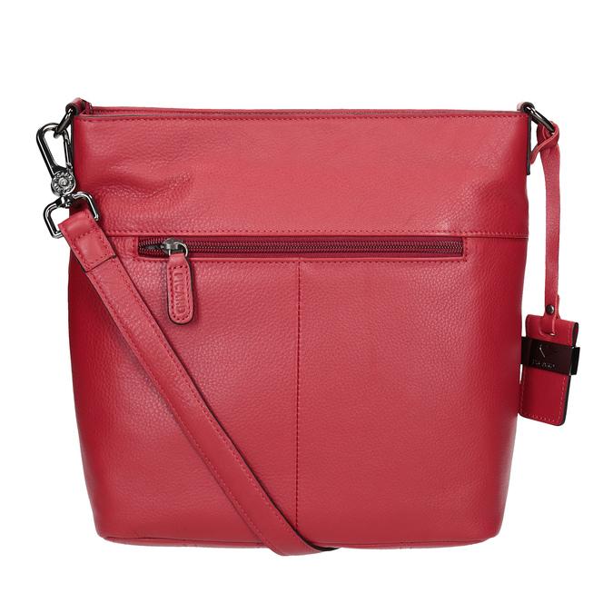 Czerwona skórzana torebka typu crossbody picard, czerwony, 964-5094 - 16
