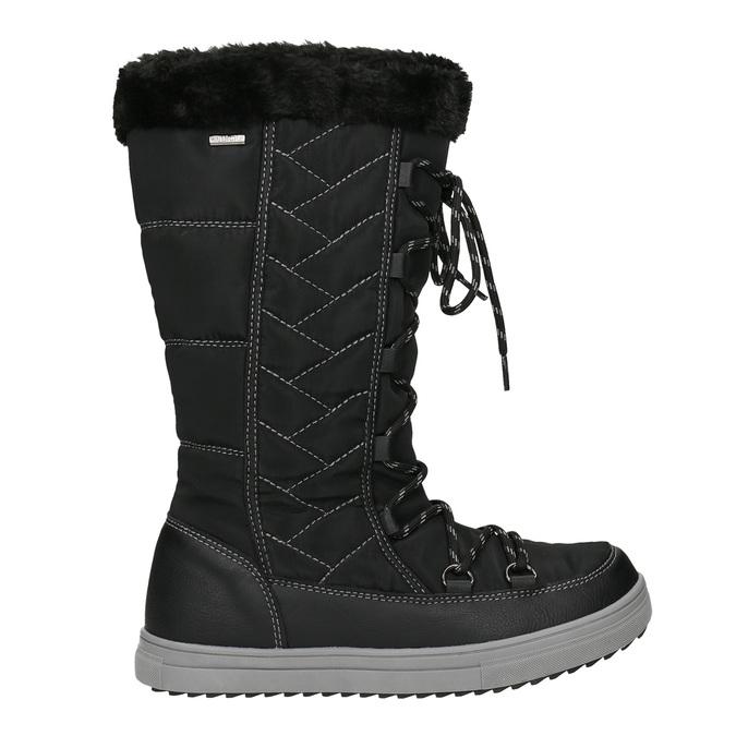 Pikowane śniegowce damskie bata, czarny, 599-6621 - 26
