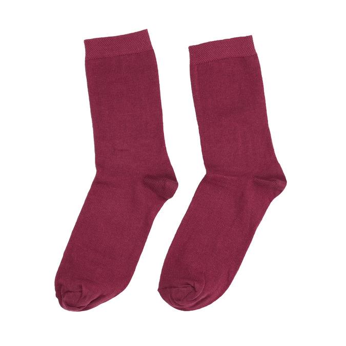 Bordowe skarpetki damskie bata, czerwony, 919-5303 - 26
