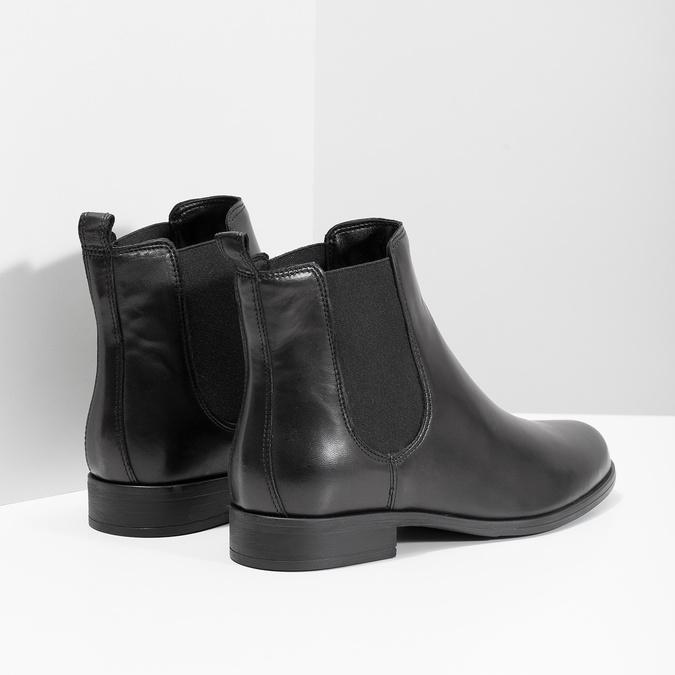 Skórzane obuwie damskie typu chelsea bata, czarny, 594-6661 - 16