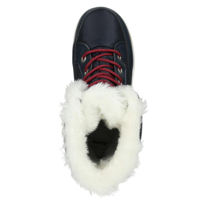 Śniegowce damskie zfuterkiem bata, niebieski, 599-9617 - 26
