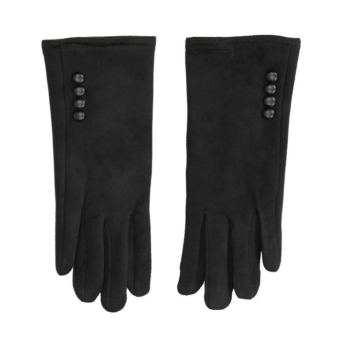 Rękawiczki damskie zmateriału tekstylnego bata, czarny, 909-6612 - 26