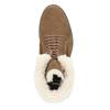 Zimowe buty damskie zfuterkiem bata, brązowy, 593-4607 - 15