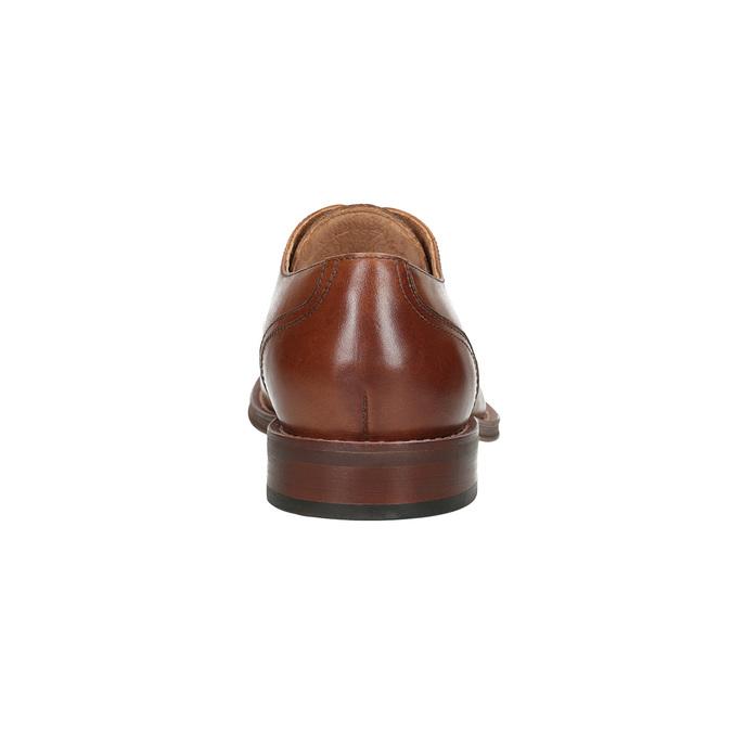 Brązowe skórzane półbuty typu angielki bata, brązowy, 826-3812 - 15