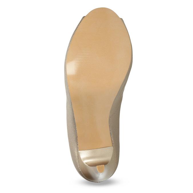 Wyjściowe złote czółenka ze skóry bata, 726-8649 - 18