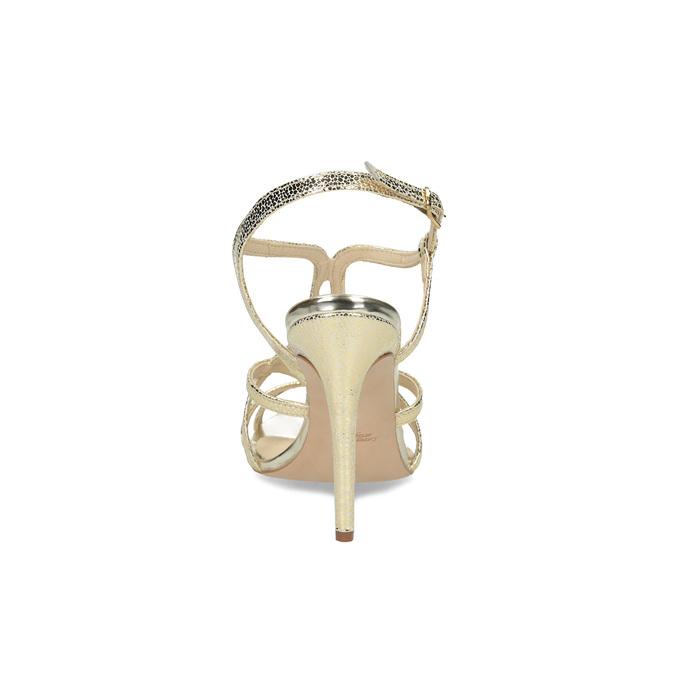 Wyjściowe złote sandały ze skóry bata, 726-8648 - 15