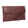 Skórzana kopertówka zprzeszyciami bata, czerwony, 966-5285 - 13