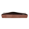 Skórzana kopertówka zprzeszyciami bata, czerwony, 966-5285 - 17