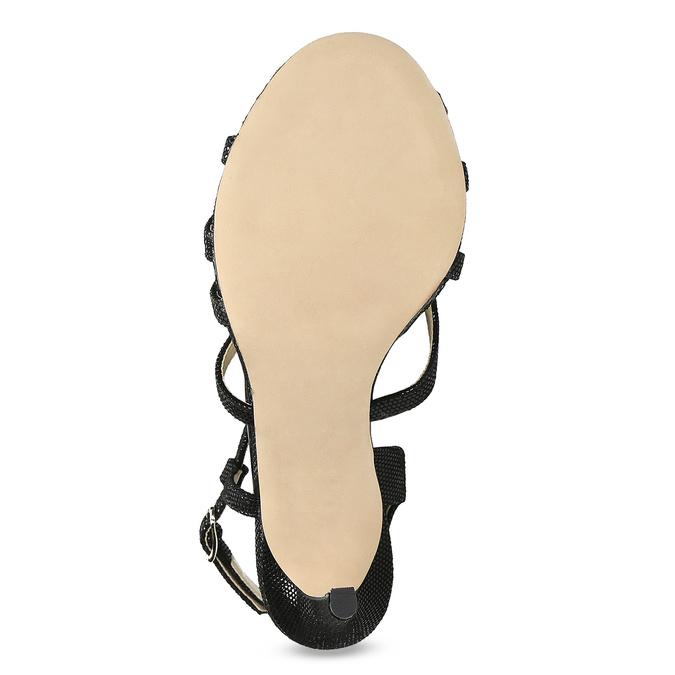 Wyjściowe sandały damskie bata, czarny, 726-6648 - 18