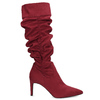 Czerwone kozaki damskie zmarszczeniami bata, czerwony, 799-5619 - 19