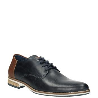 Skórzane półbuty męskie typu angielki bata, niebieski, 826-9924 - 13