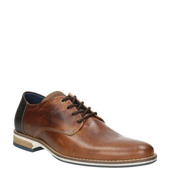 Brązowe skórzane półbuty bata, brązowy, 826-3924 - 13
