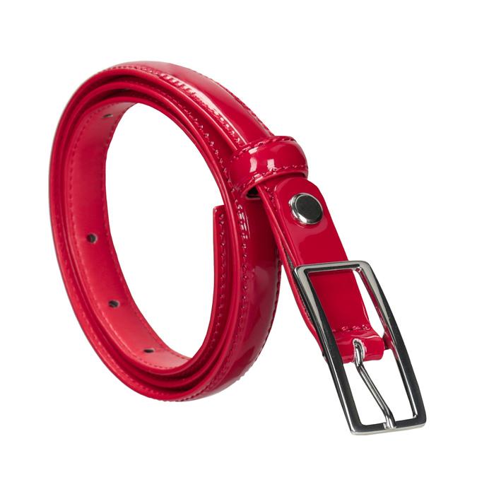 Czerwony lakierowany pasek bata, czerwony, 951-5603 - 13