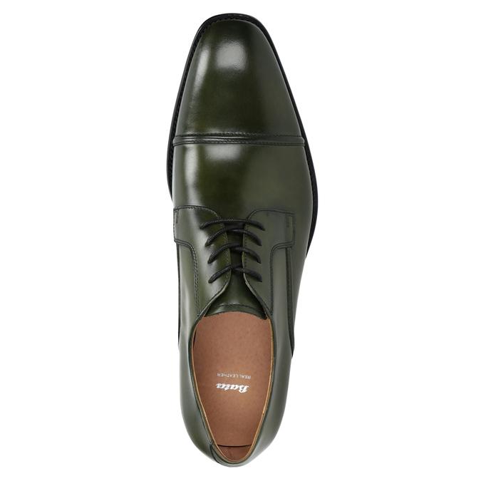 Zielone półbuty męskie ze skóry bata, zielony, 826-7857 - 15