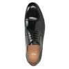 Czarne skórzane półbuty typu angielki bata, czarny, 824-6863 - 15