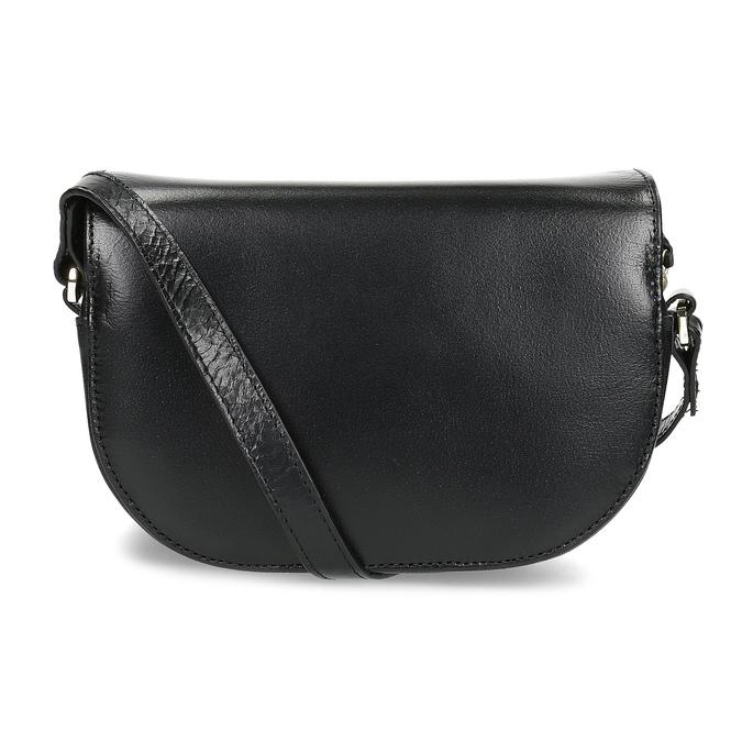 Skórzana torebka zklapą royal-republiq, czarny, 964-6084 - 16