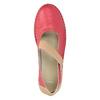 Skórzane baleriny zpaskami bata, czerwony, 526-5651 - 15