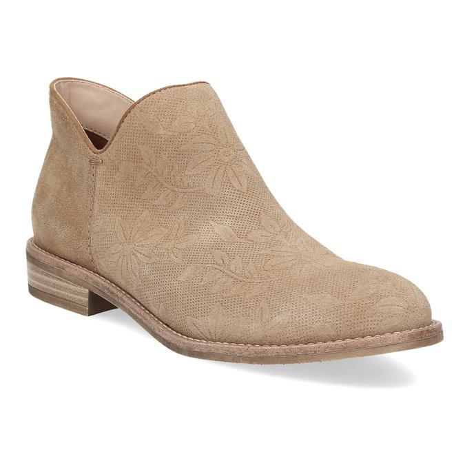 Skórzane botki bata, brązowy, 596-3685 - 13