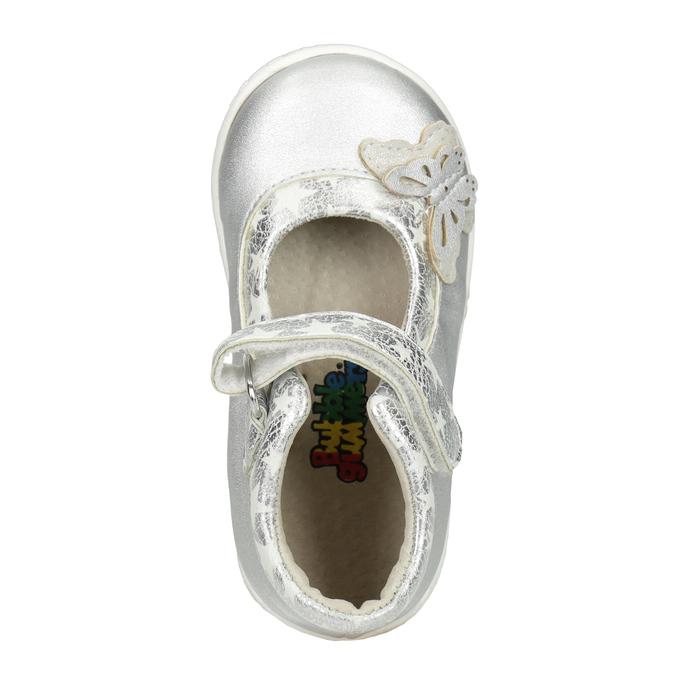 Srebrne baleriny dziewczęce bubblegummer, szary, 121-2620 - 15
