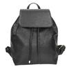 Czarny plecak ze sznurkiem bata, czarny, 961-6858 - 26