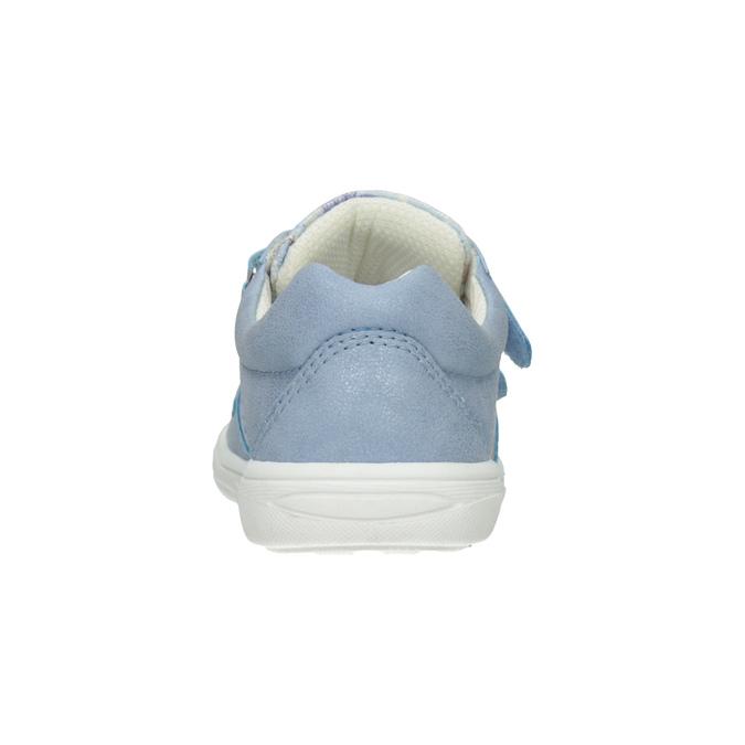 Błękitne trampki dziecięce wdeseń mini-b, 221-9215 - 16