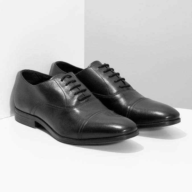 Czarne skórzane półbuty typu oksfordy bata, czarny, 824-6944 - 26
